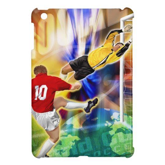 Football, soccer heroes iPad mini cover