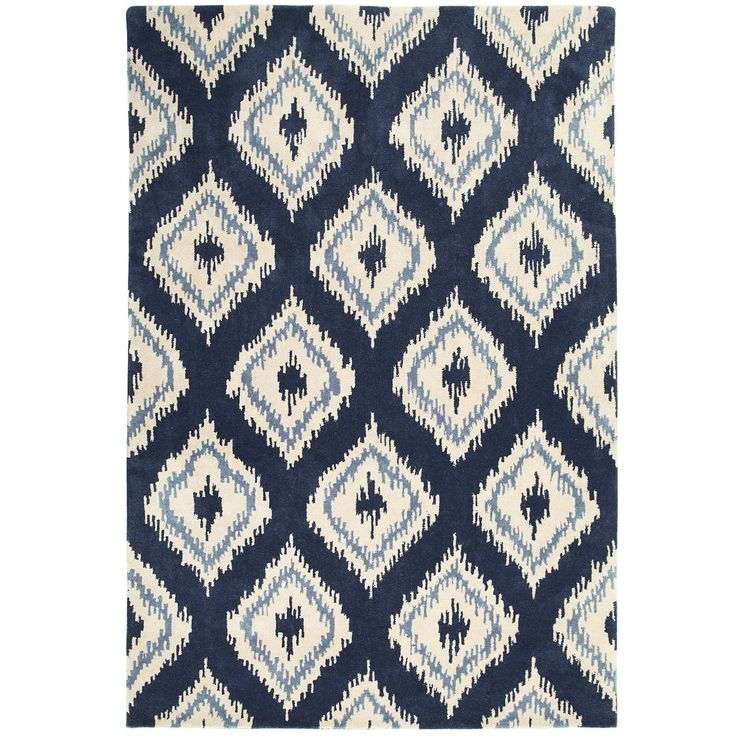Ikat Diamond Navy 8x10 Rug