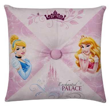 Disney Princess kussen roze  Dit prachtige maar vooral zachte kussen van Disney Princess zal gegarandeerd prachtig staan op jouw prinsessenkamer.  EUR 19.99  Meer informatie