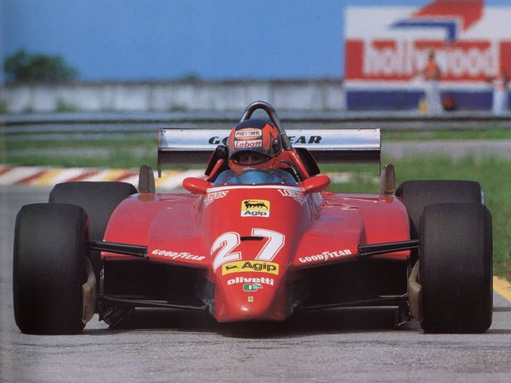 Gilles Villeneuve, Ferrari, #27, (RET-spun off), Brazilian GP, Jacarepaguá circuit in Rio on March 21, 1982.