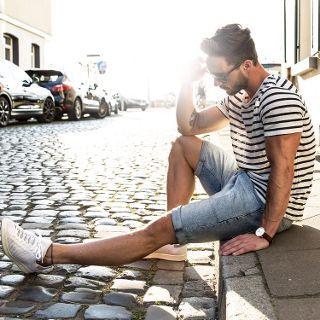 magic_fox on Fashiontap: Summer feeling* (1) GESTREIFTES T-SHIRT-Gestreift-T-SHIRTS-HERREN | ZARA Deutschland (2) Cheap Monday | Cheap Monday – Schmale Jeans-Bermudas in Used-Optik mit Future-Waschung bei ASOS (3) adidas Originals Stan Smith Primeknit Schuhe Sneaker Turnschuhe Weiß AF4451 [Größenauswahl: 39 1/3] günstig kaufen - Allyouneed.com (4) Classic St Mawes 40mm