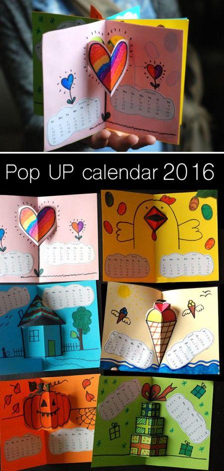 Calendar 2016- Pop-up BOOK