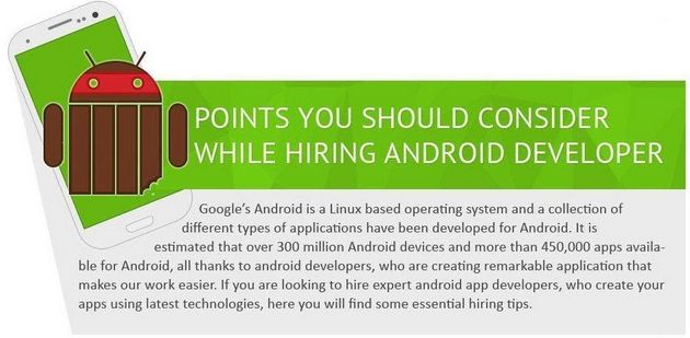 Tips To Consider While #Hiring an #Android #Developer