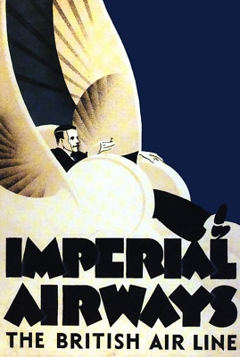 Imperial Airways - 'The British Airline' vintage travel poster