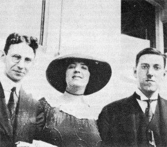 1921, July 5 – Rheinhart Kleiner, Sonia Greene, and Lovecraft in Boston.