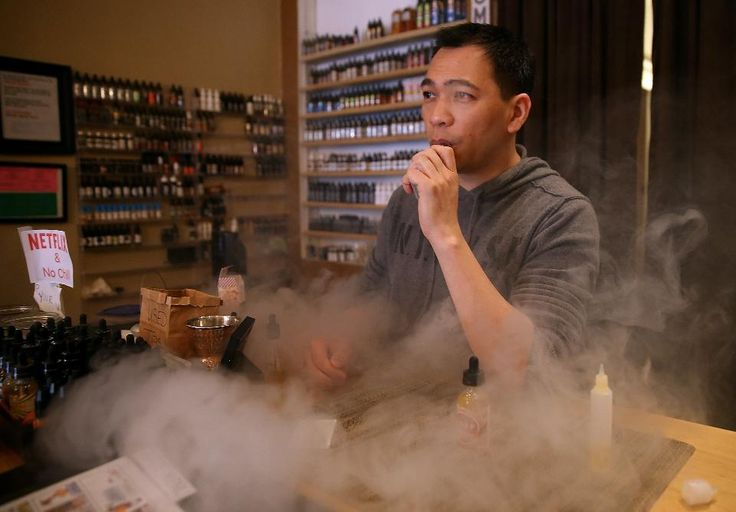 Christopher Chin , owner of Gone With the Smoke Vapor Lounge in San Francisco…