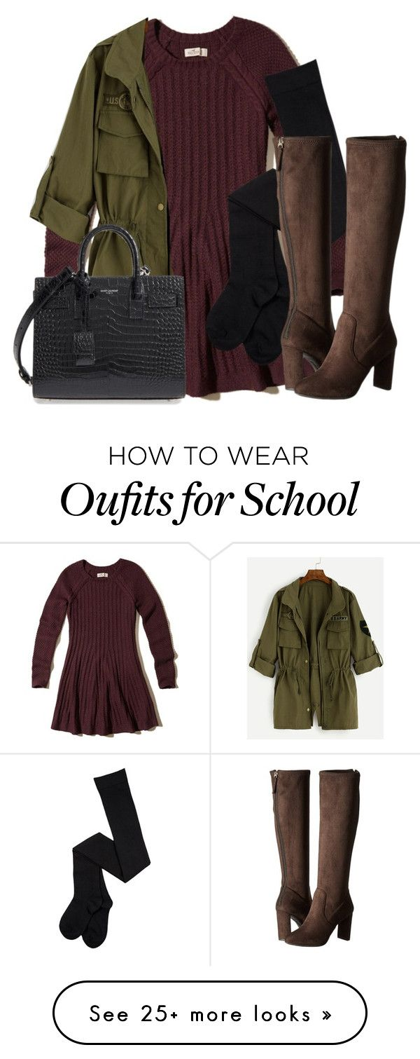 """""""Allison Argent Inspired School Look"""" by tynestar on Polyvore featuring Hollister Co., Nine West and Yves Saint Laurent"""