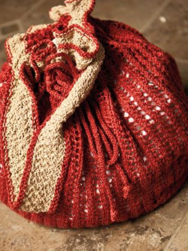 Pretty knitted round pouch purse. Knit / Crochet projects Pintere ...
