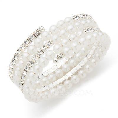 [€ 29.54] Exquisito Perla/Diamantes de imitación Señoras' Pulseras (011039255)
