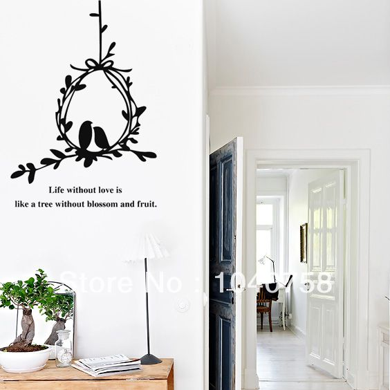 Best Portrait And Pattern Images On Pinterest Wall Decals - Wall decals birdsbirds couple on branch wall decal beautiful bird vinyl sticker