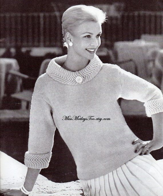 Cowl Neck Hoodie Knitting Pattern : 125 best images about Vintage Knitting Patterns on ...