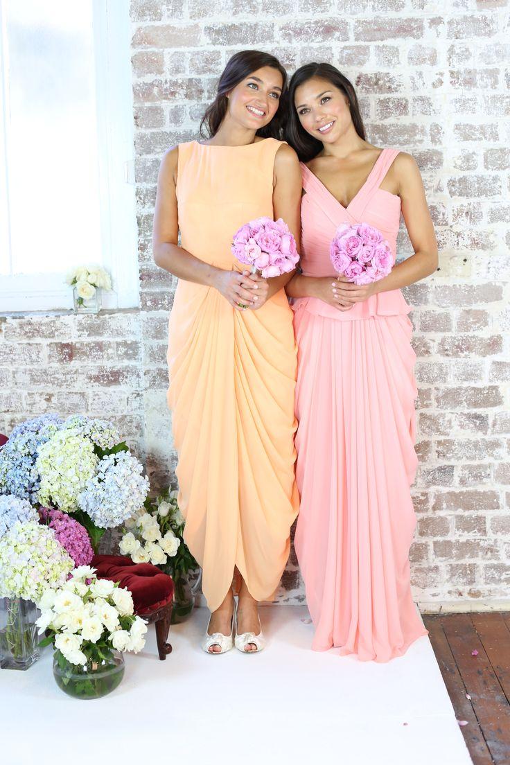 STYLA & CO Carya & Chloe pastel bridesmaid dresses. www.stylaandco.com.au/carya/ www.stylaandco.com.au/chloe/