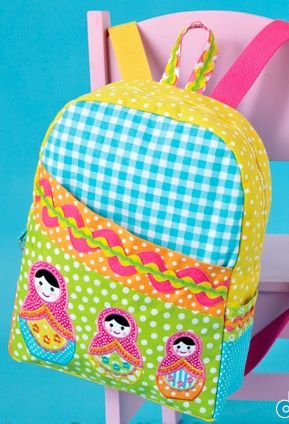 Dolly Backpack - SEWING IN GENERAL - Knitting, sewing, crochet, tutorials, children crafts, jewlery, needlework, swaps, papercrafts, cooking and so much more on Craftster.org