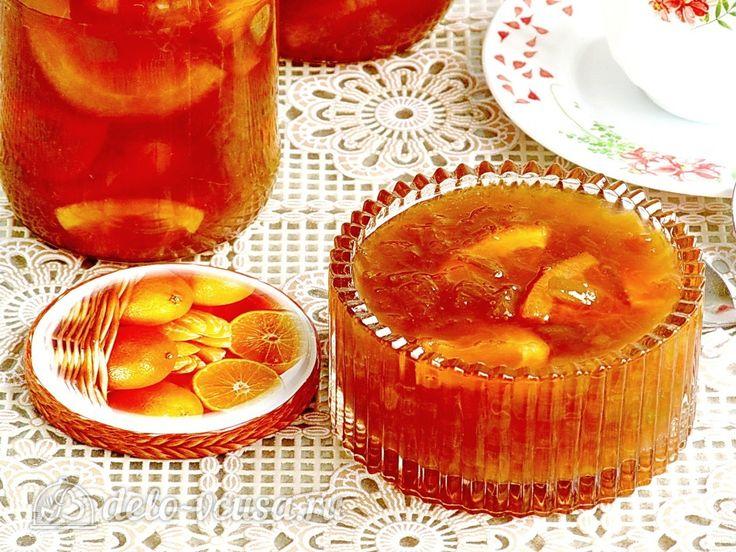 Варенье из ревеня с апельсинами #варенье #ревень #апельсины #консервация #рецепты #деловкуса #готовимсделовкуса