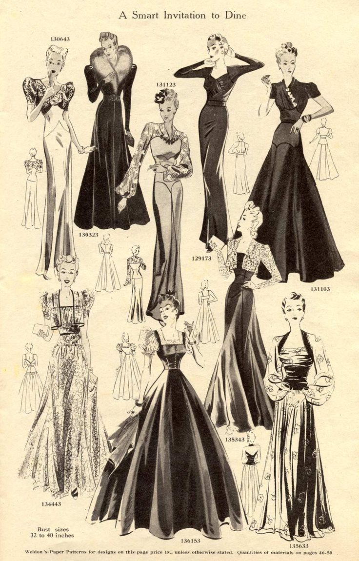 Weldons Catalogue of Fashions, via Vintage Chic.