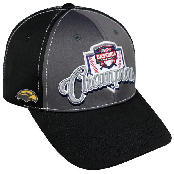 Southern Miss Golden Eagles Top of the World 2016 Conference USA Baseball Conference Champions Adjustable Hat - Gray - $20.99