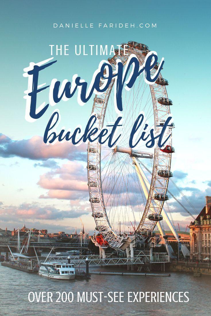 Die ultimative Europa-Bucket-Liste