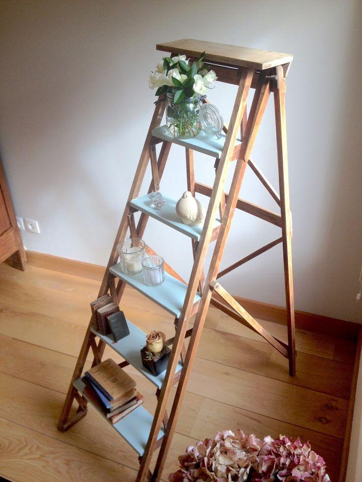 Lucette et Suzette : Find it, paint it, love it : le DIY avec Farrow & Ball - relooking escabeau vintage