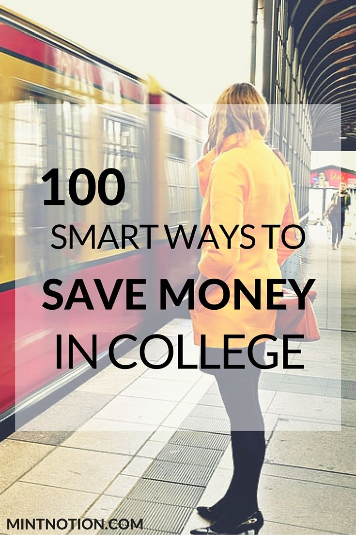 100 ways to save money in college. Find out the best tips to save money, get out of debt and make extra money while in college. This list has SO many great money saving tips, I wish I had this when I was in University. (frugal living)