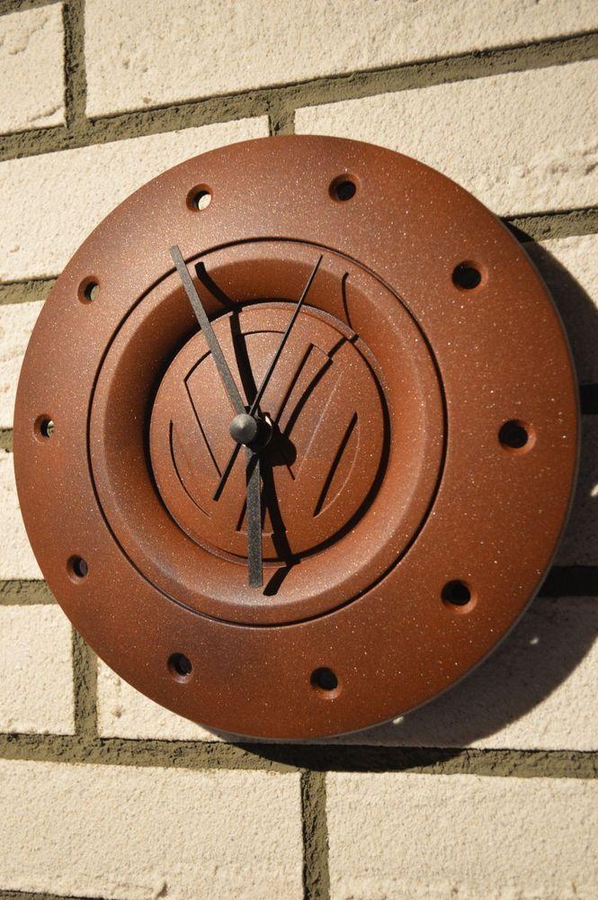 Volkswagen Radkappen Uhr im Rost-Look DIY