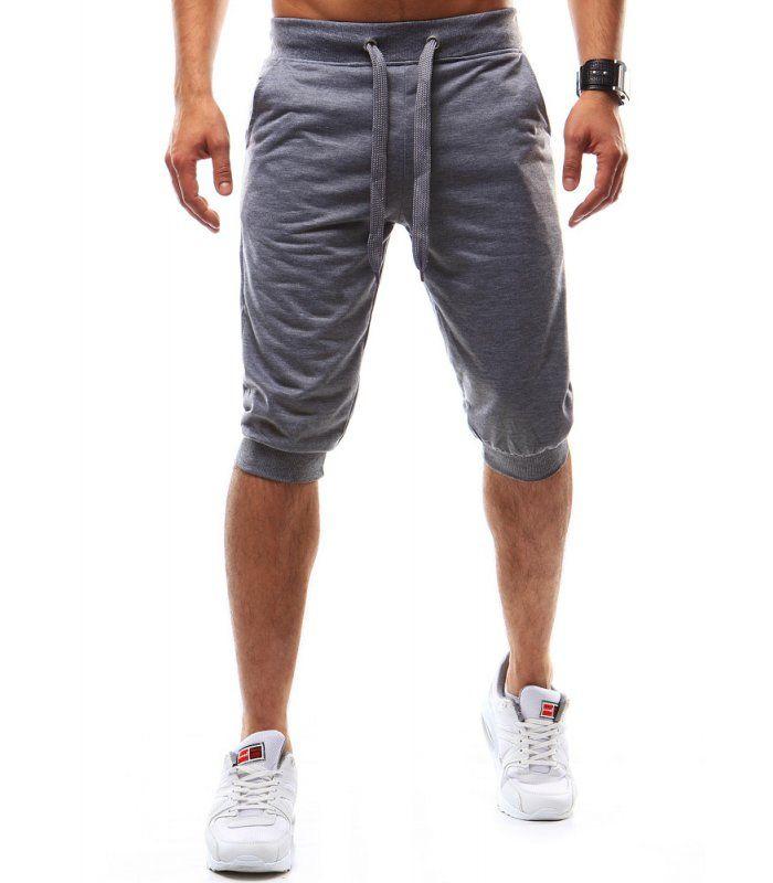 Pánske krátke nohavice šedej farby