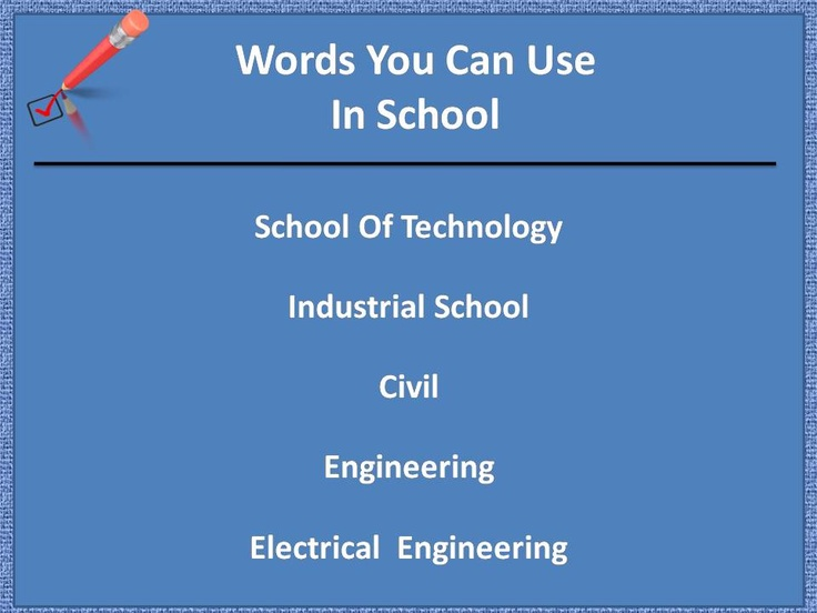 Some easy word for you to speak in school. . .