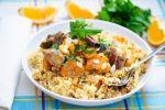 Couscous met aubergine en zoete aardappel recept op MijnReceptenboek.nl