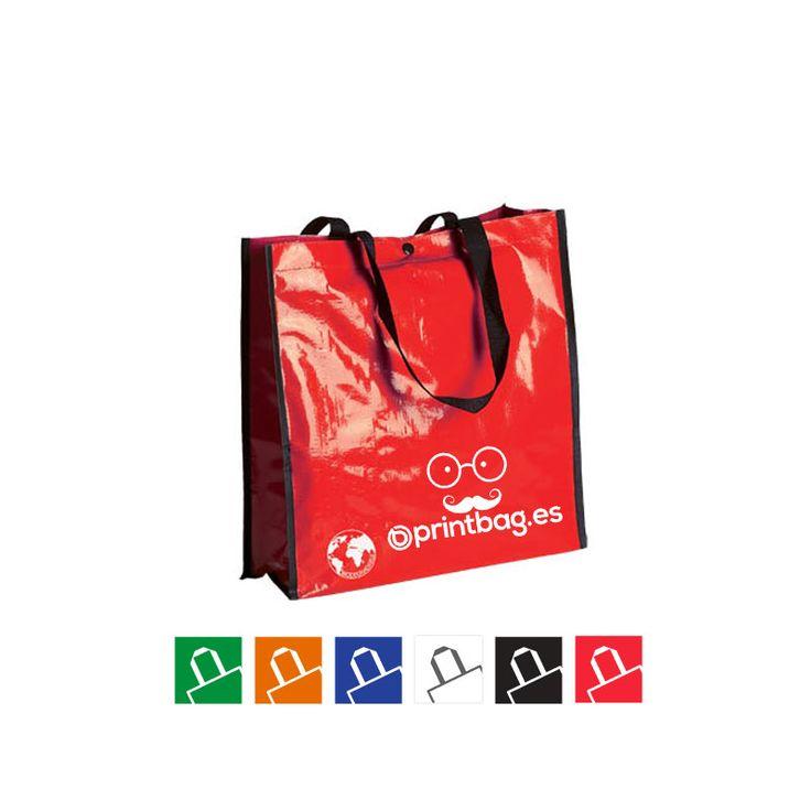 Bolsas ecologicas impresas en serigrafia rojas.