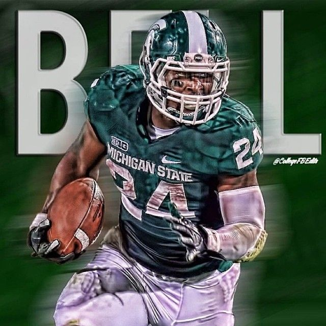 Leveon Bell Of Michigan State As Requested Padgram Michigan State Le Veon Bell Michigan