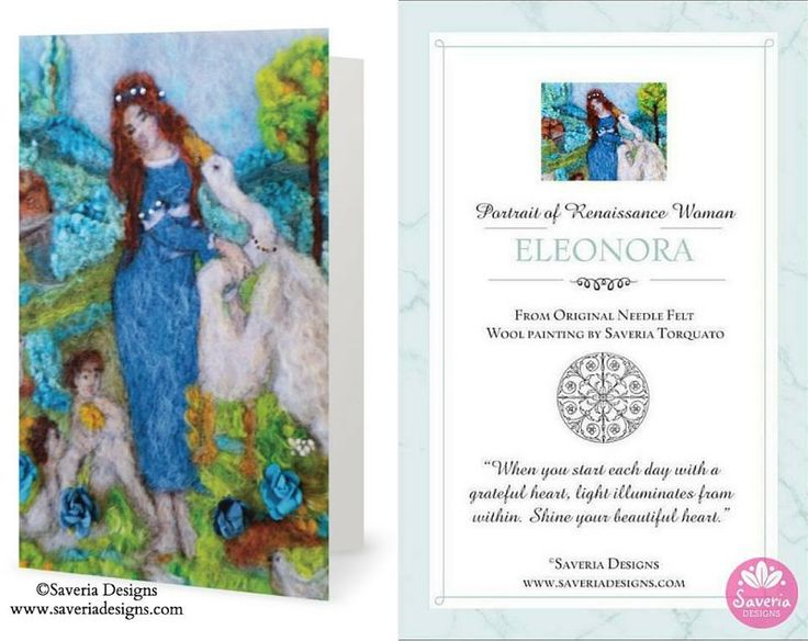 Eleonora Renaissance Card with Inspirational Quote Insert. To inspire your women friends.