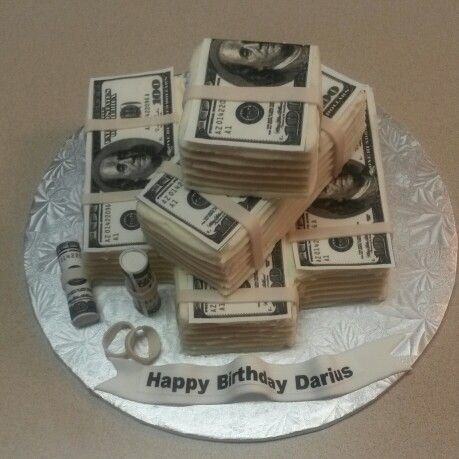 Money Stack Cake