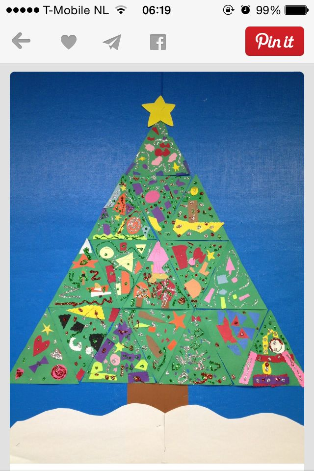 Have each child decorate a triangle, then make ONE BIG TREE!!!