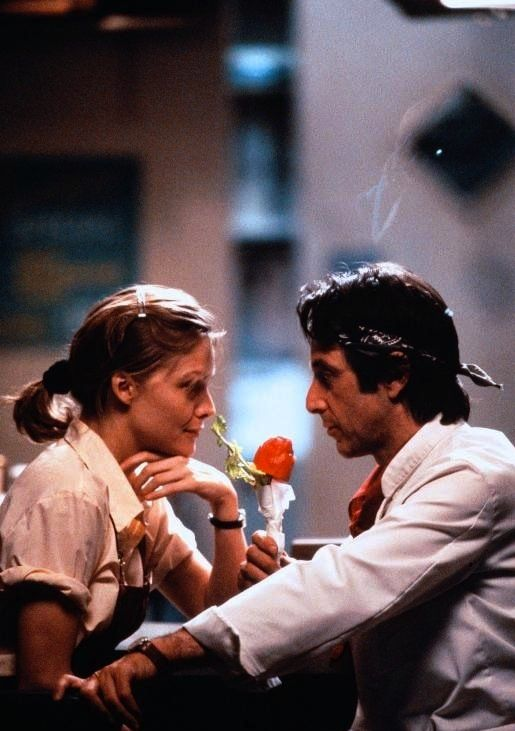 Al Pacino and Michelle Pfeiffer in Frankie and Johnny, Directed by Garry Marshall, c .1991