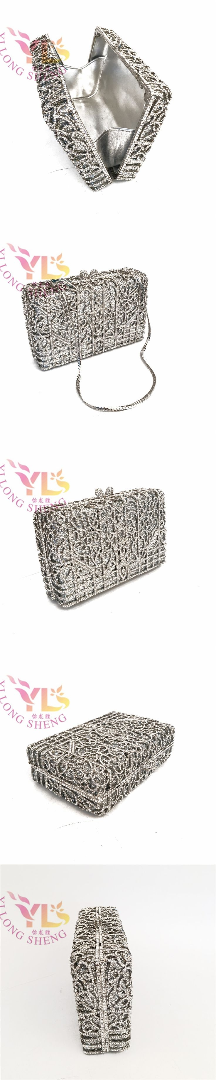 Clutch Evening Bags Women Stylish And Simple Silver Clutch Bag
