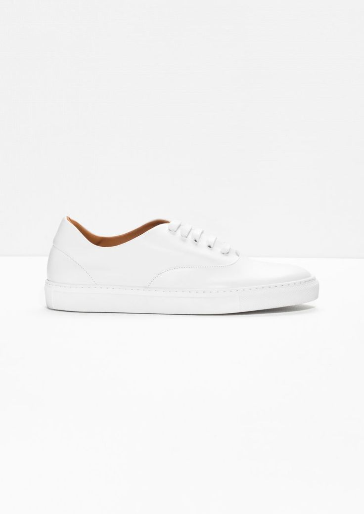 & Other Stories | Leather Sneakers | White