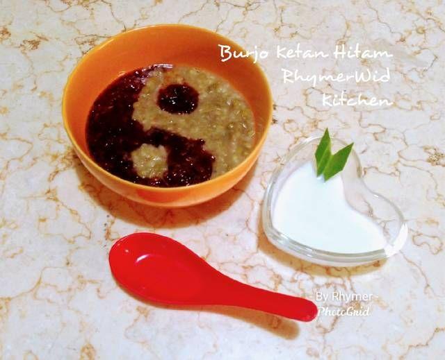 Resep Burjo Ketan Hitam Oleh Rhymerwid Kitchen Resep Di 2020 Resep Sarapan Kacang