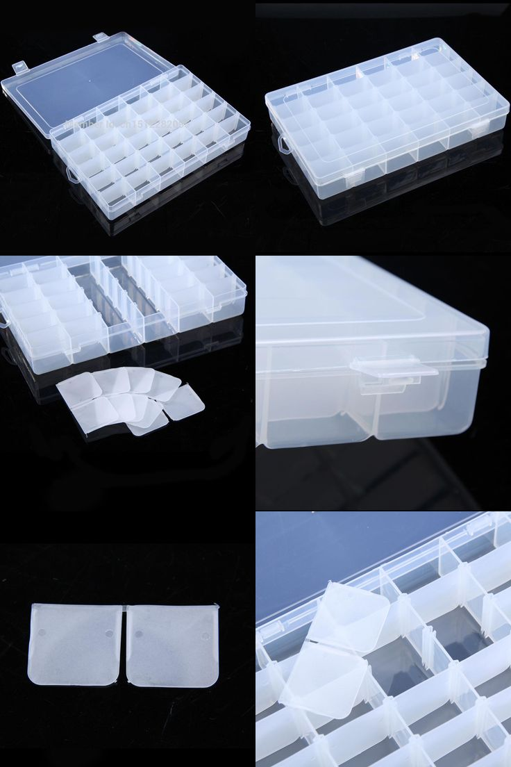 [Visit to Buy] 36 Grid Plastic Adjustable Jewelry Organizer Box Storage Container Case  E2shopping #Advertisement