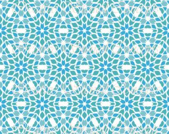 Abstract Seamless Mosaic Pattern Stencil MULTIPLE SIZES AVAILABLE on Industry Standard 12 Mil Mylar Design 114864469