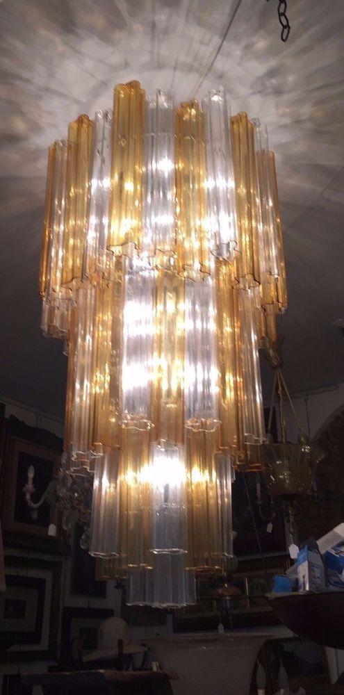 LAMPADARIO VETRO DI MURANO VENINI MURANO 1960 CHANDELIER MURANO GLASS VENINI