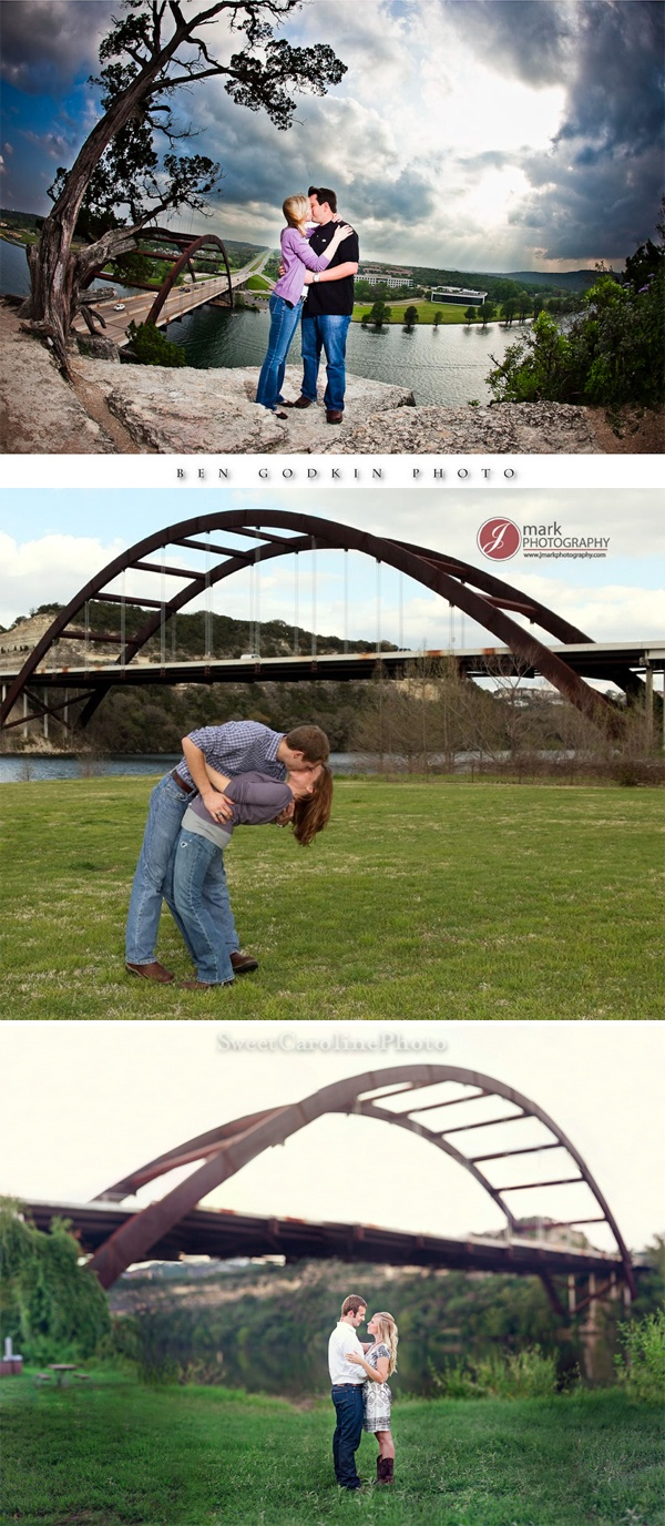 Austin Engagement Photo Location 360 Bridge Pennybacker Located On The Scenic