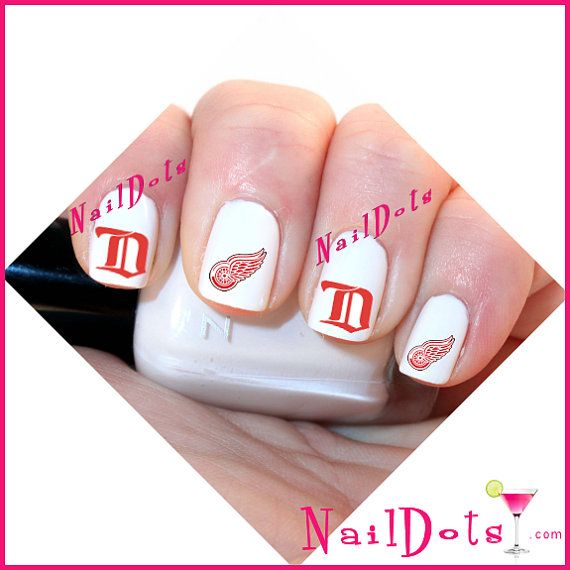 49 best detroit red wings nails hair and makeup images on 40 detroit red wings nail art water slide decals great by naildots 325 prinsesfo Choice Image