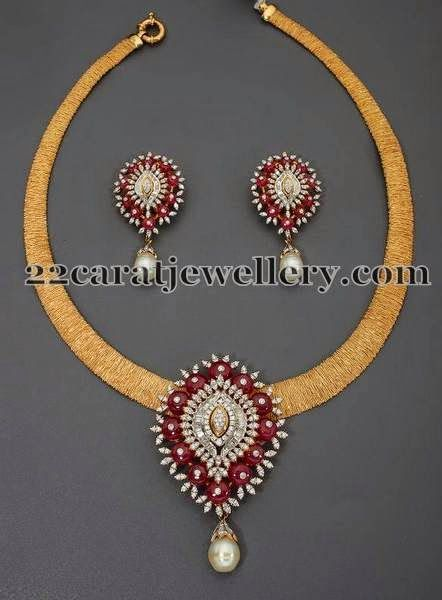 Jewellery Designs: Fancy Crystal Pendant by Mor Jewels
