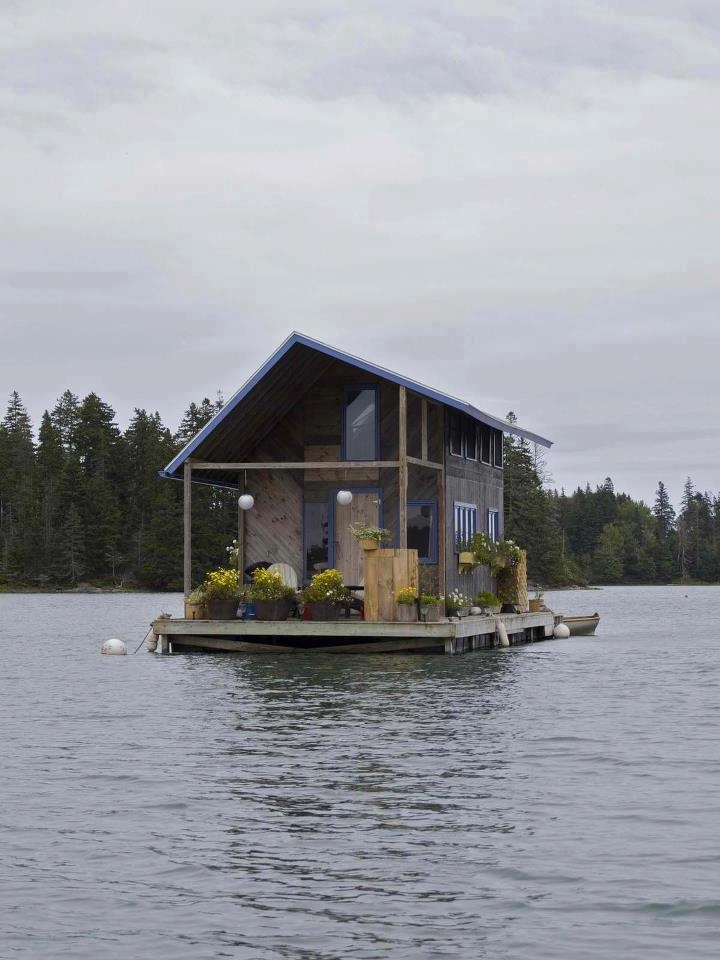 """This houseboat would be a """"cool"""" way to stay cool on a hot summer day!"""