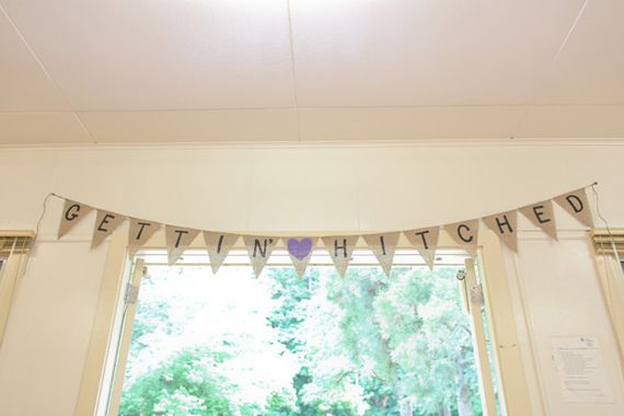#banner #bunting gettin hitched burlap banner bridal shower inspiration (photo by jamie zanotti)