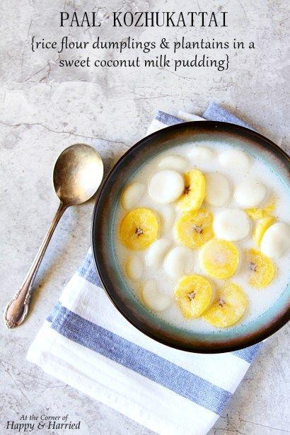 Paal Kozhukattai {Rice Flour Dumplings In A Coconut Milk Pudding}
