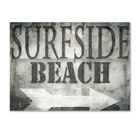 Trademark Fine Art 'Surfside Beach' Canvas Art by LightBoxJournal, Gray