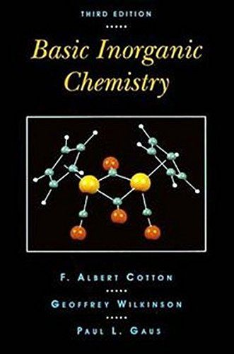 Basic Inorganic Chemistry, 3rd Edition:   Explains the basics of inorganic chemistry with a primary emphasis on facts; then uses the student's growing factual knowledge as a foundation for discussing the important principles of periodicity in structure, bonding and reactivity. New to this updated edition: improved treatment of atomic orbitals and properties such as electronegativity, novel approaches to the depiction of ionic structures, nomenclature for transition metal compounds, qua...