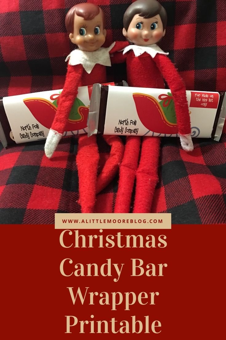 North Pole Candy Company Custom Christmas Chocolate Bar Wrapper