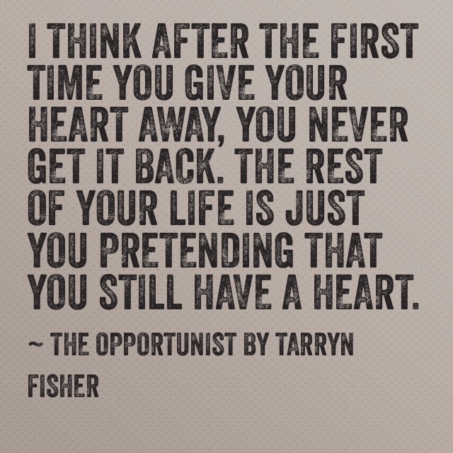 The Opportunist by Tarryn Fisher ♥ image from www.booksunhinged.com