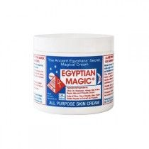 Egyptian Magic, 59 ml. All-Purpose Skin Cream Egyptian Magic is made of Honey, Beeswax, Olive Oil, Royal Jelly, Bee Pollen and Bee Propolis combined in a unique process to create a moisturizing balm unlike any other. That's it. No additives, preservatives, fragrances, chemicals or parabens. A multi-purpose cream.